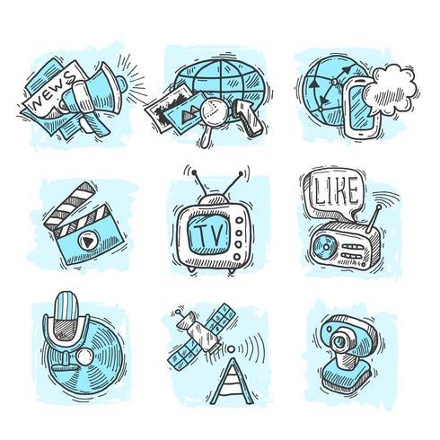 Concepts de conception de médias vecteur