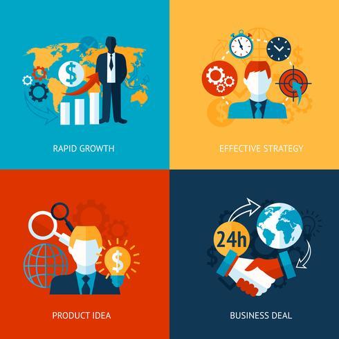 Ensemble d'affaires et de gestion vecteur