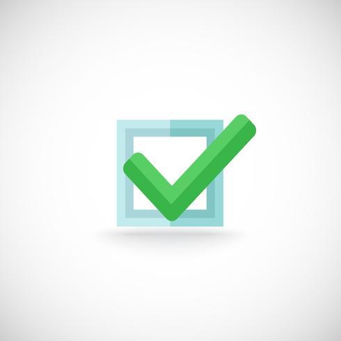 Icône de bouton web Chek mark vecteur