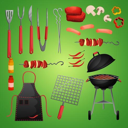 Barbecue pique-nique vecteur