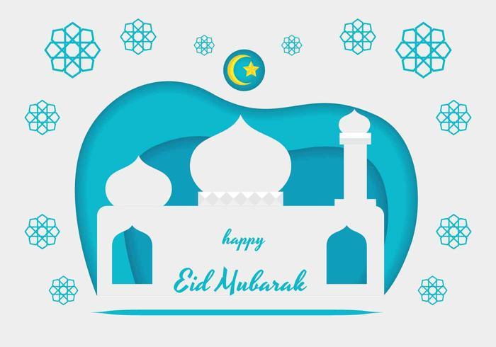 Illustration vectorielle eid mubarak vecteur