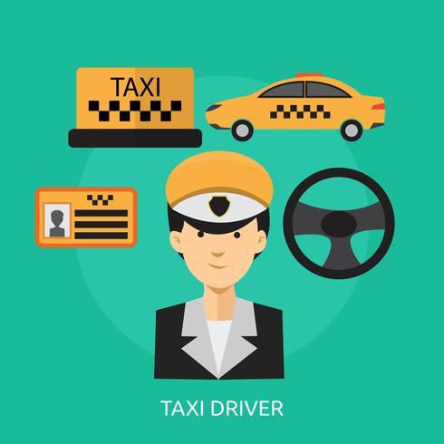 Chauffeur de taxi conceptuel illustration design vecteur