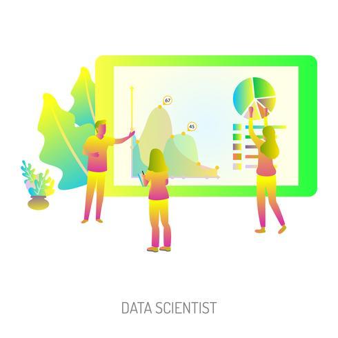 conception illustration scientifique conceptuel de données vecteur