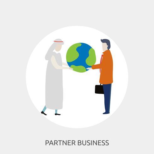 conception d'illustration conceptuelle entreprise partenaire vecteur