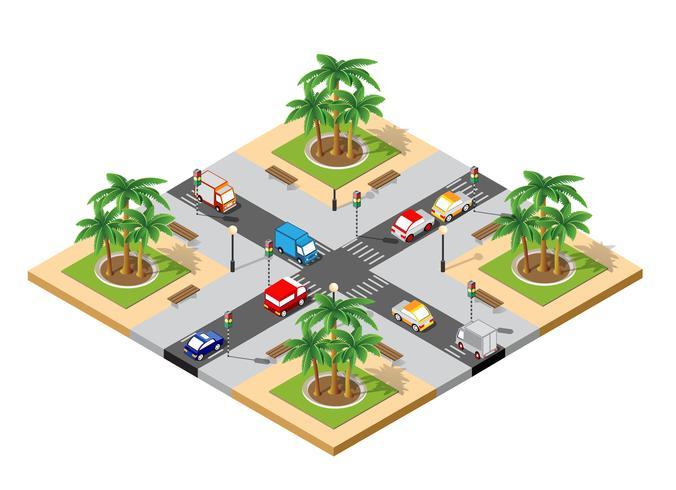 Intersection 3D de la ville vecteur