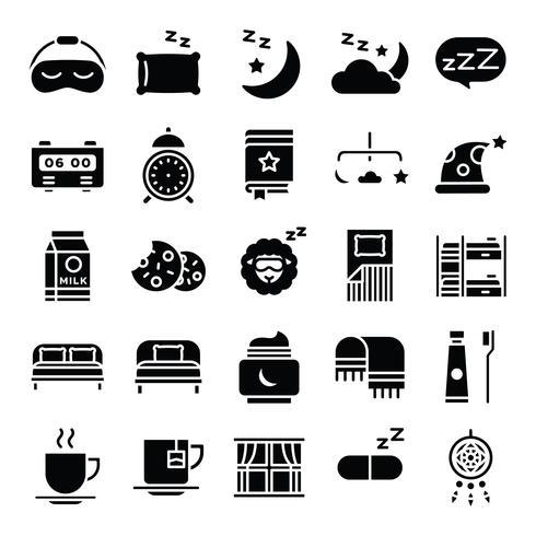 Sleeping Pack d'icônes vecteur