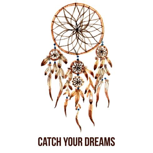 Icône de dreamcatcher indien américain vecteur