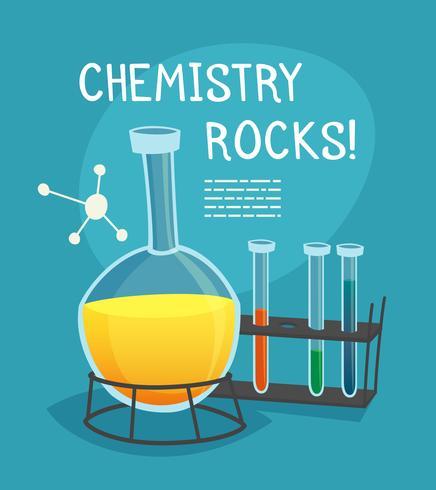 Concept de dessin animé de laboratoire de chimie vecteur