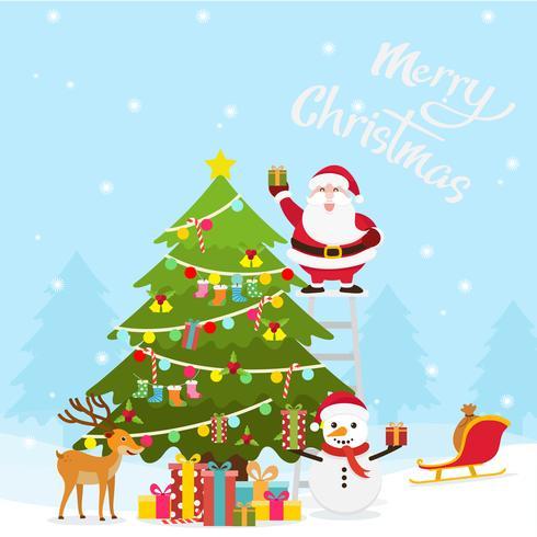 Fond de décoration de Noël et du nouvel an vecteur