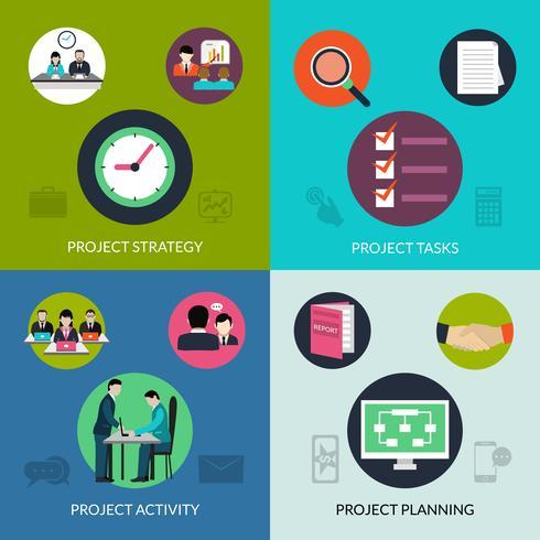 Set de gestion de projet vecteur