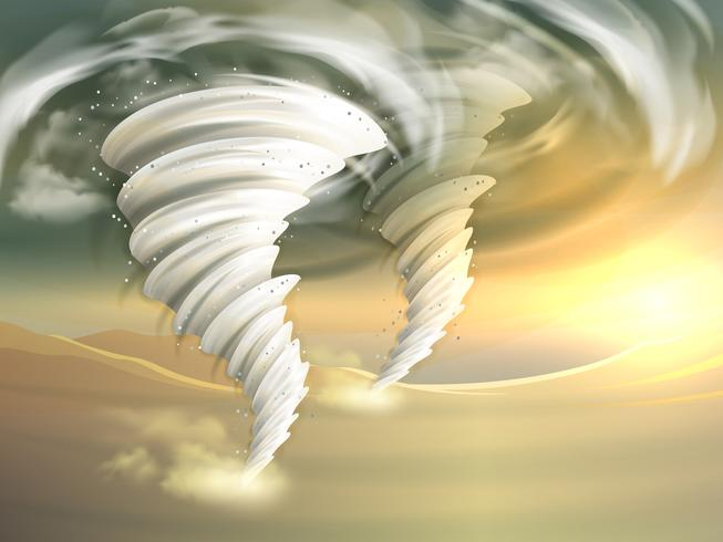 Illustration de tourbillons de tornade vecteur