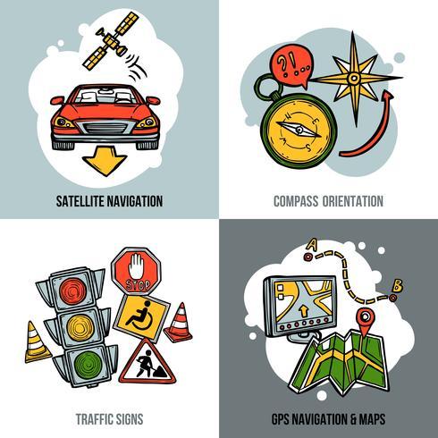 Concept de navigation vecteur