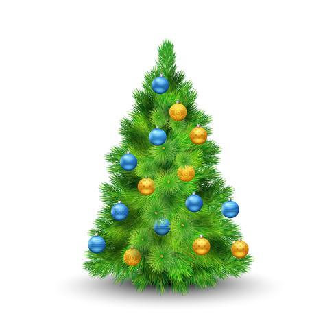 Arbre de Noël avec des boules vecteur