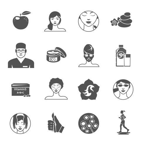 Rajeunissement Icons Set vecteur