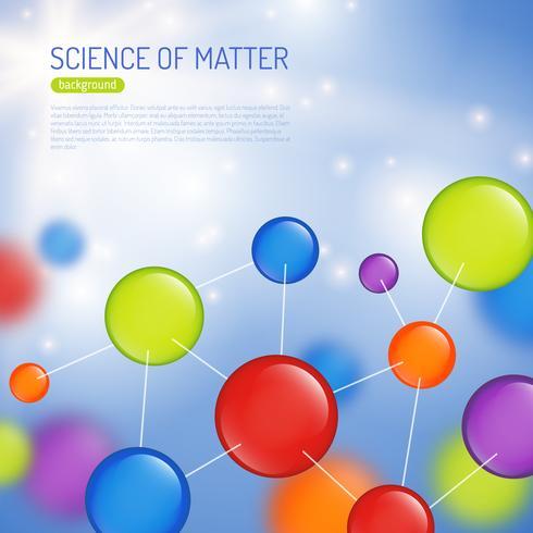 illustration de fond de science vecteur