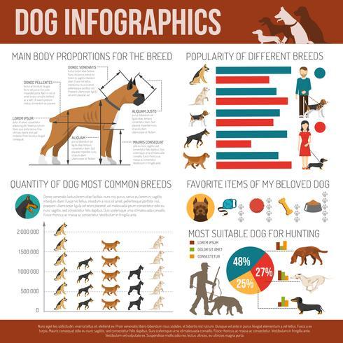 Set d'infographie pour chien vecteur