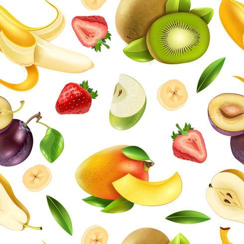 Fruits baies transparente motif coloré vecteur