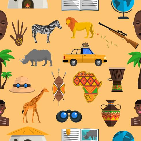 Modèle sans couture de l'Afrique vecteur