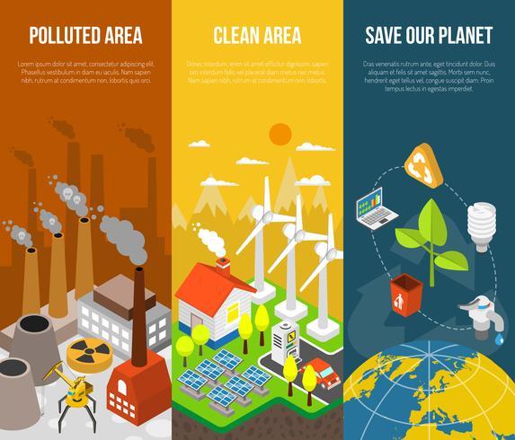 Concept de bannière écologique vecteur