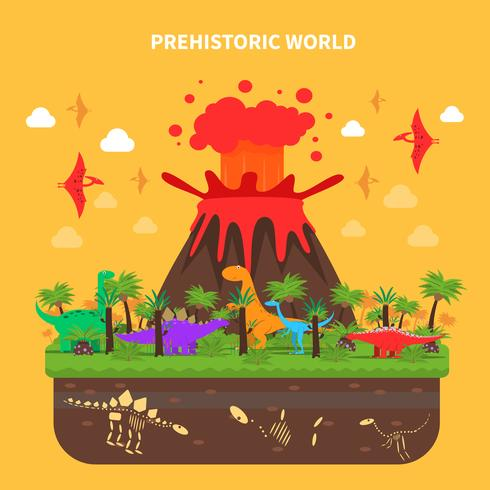 Illustration de concept dinosaures vecteur