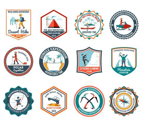 Ensemble d'emblèmes d'expédition vecteur
