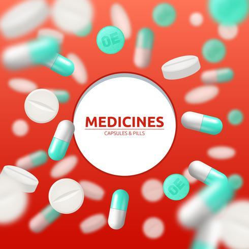 Illustration médicale de pilules vecteur
