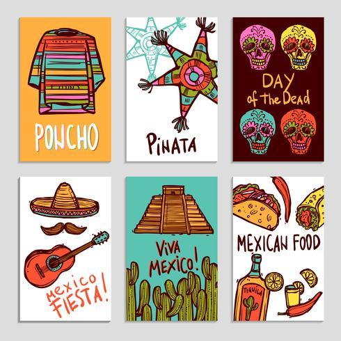 Ensemble d'affiches du Mexique vecteur