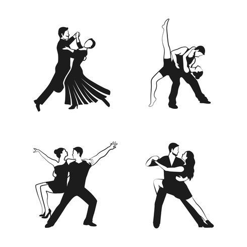 Ensemble d'icônes de danse vecteur