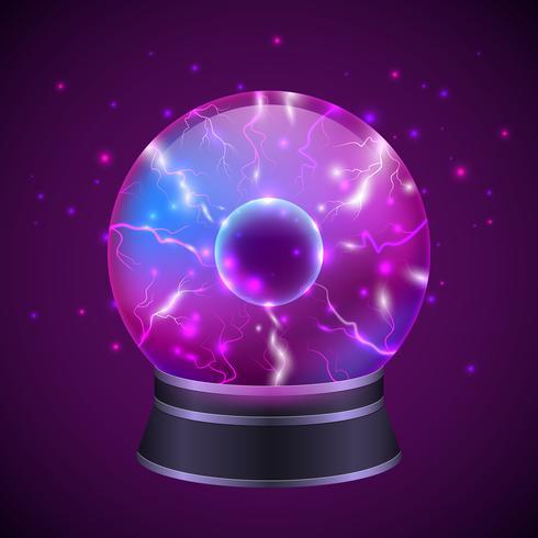Illustration de la sphère magique vecteur