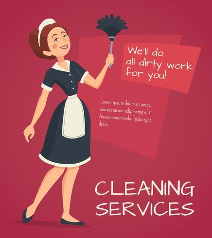 Illustration de publicité de nettoyage vecteur