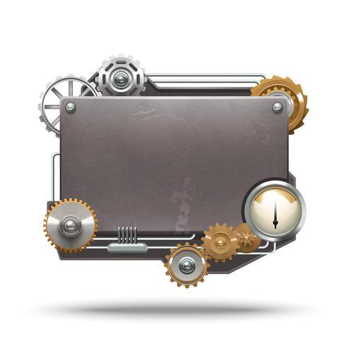 Cadre Style Steampunk vecteur