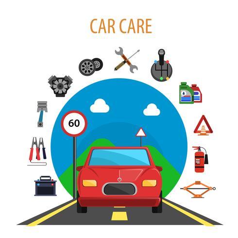 Concept de service de voiture vecteur