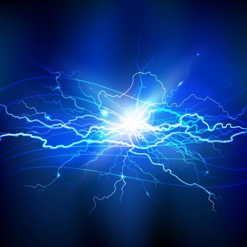 Fond bleu éclair vecteur