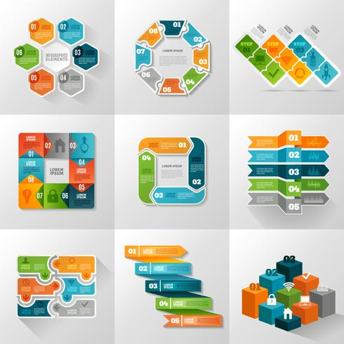 Infographie Templates Icons Set vecteur
