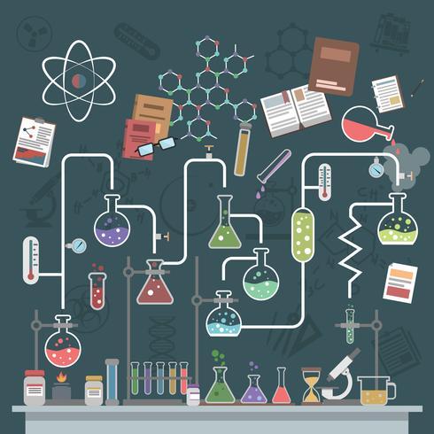 concept scientifique plat vecteur