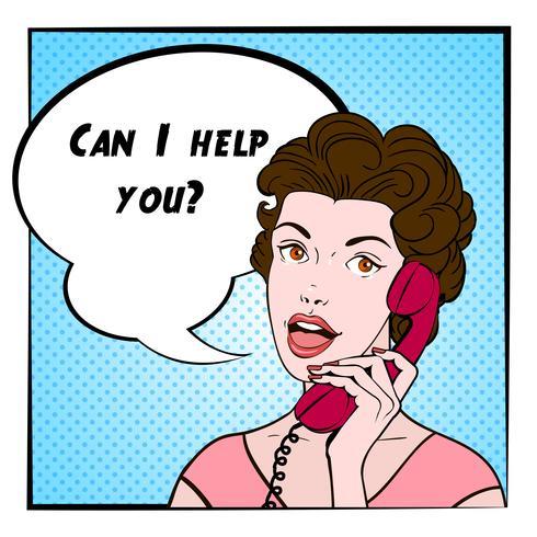 Illustration couleur femme BD vecteur