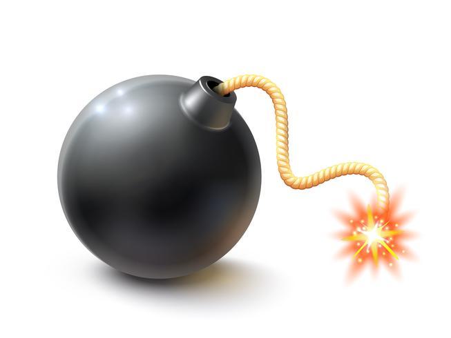 Illustration réaliste de bombe vecteur