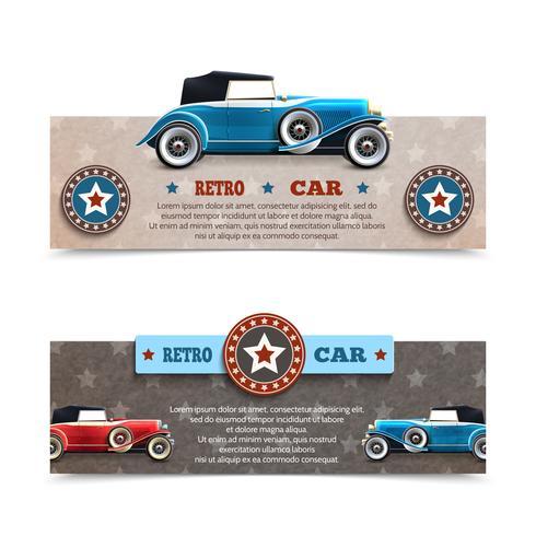 Bannières de voitures rétro vecteur