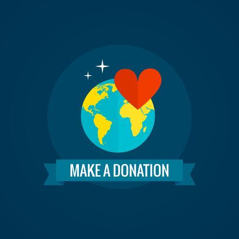 Icône de la charité et des dons vecteur