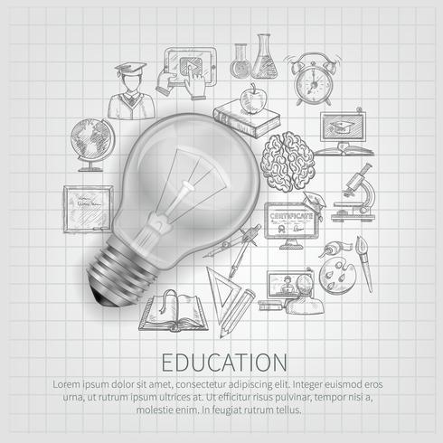 Illustration de concept d'éducation vecteur