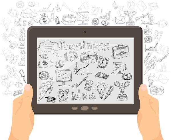Bannière de concept Business Mobile Technology vecteur