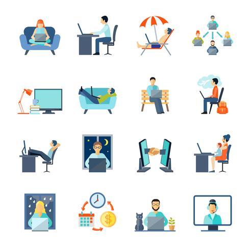 Freelance Icons Set vecteur