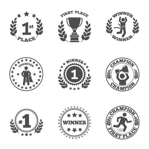 Première place ensemble d'icônes vecteur