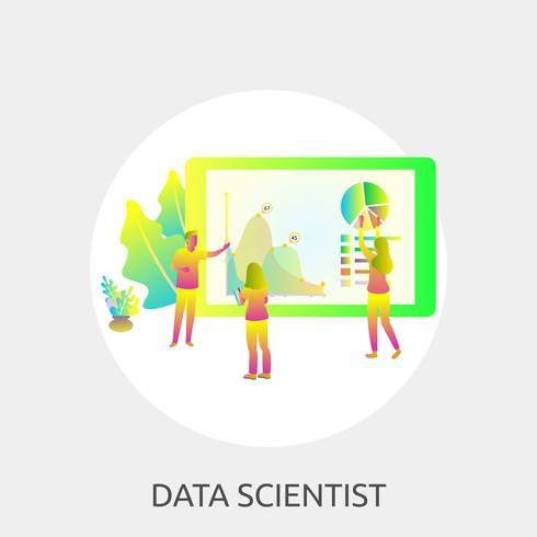 Data Scientist Illustration conceptuelle Design vecteur