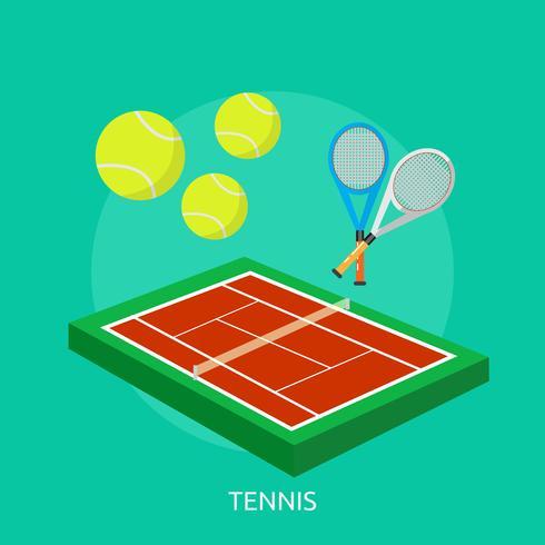 Tennis Illustration conceptuelle Design vecteur