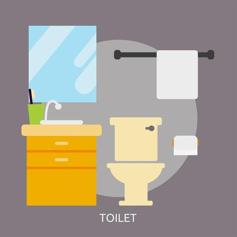 Toilette Illustration conceptuelle Design vecteur