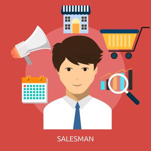 Vendeur Conceptuel illustration Design vecteur