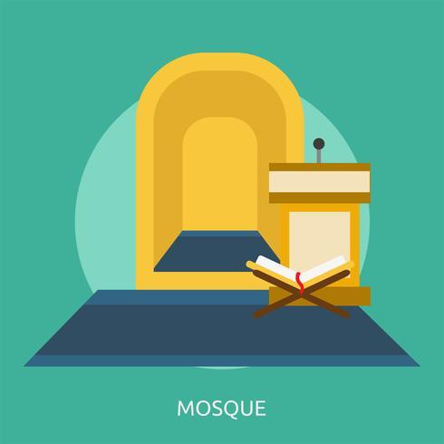 Mosquée Conceptuel illustration Design vecteur