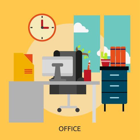 Bureau conceptuel illustration design vecteur