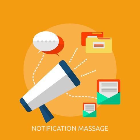 Notification Massage Conceptuel illustration Design vecteur